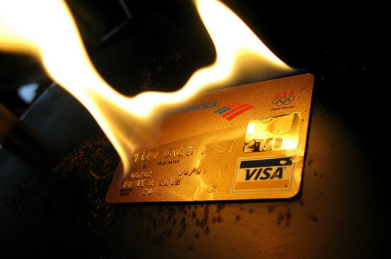Burned by credit cards