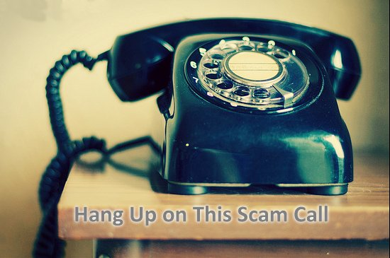 Hang up on scammers
