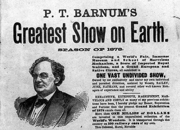 P.T. Barnum filed for bankruptcy