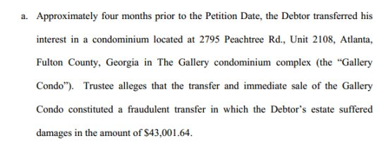 Todd Chrisley bankruptcy document