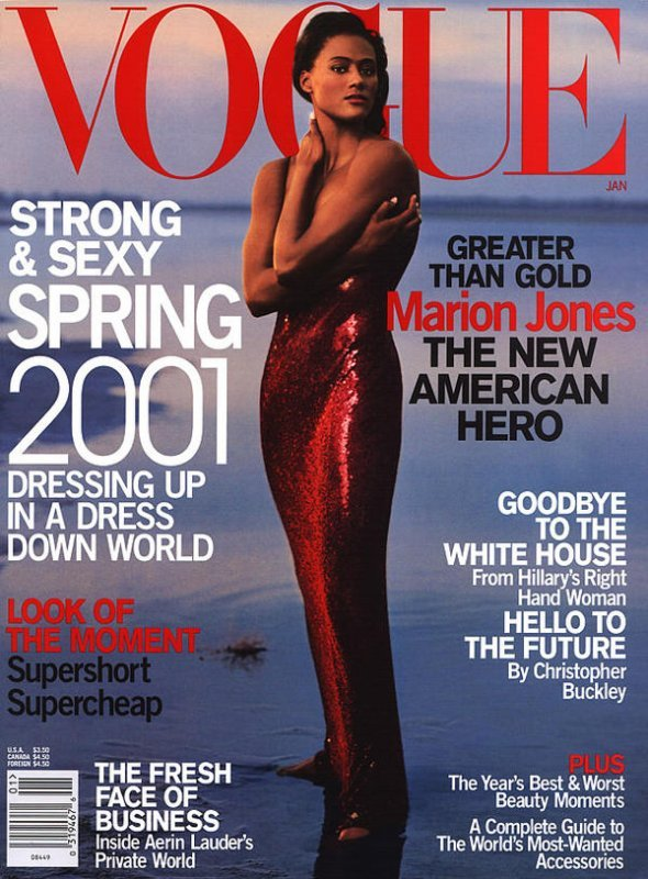 Marion Jones Vogue cover