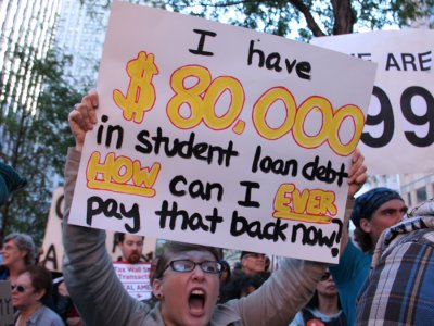 Student Debt Protester