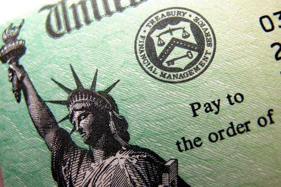 Tax refund check