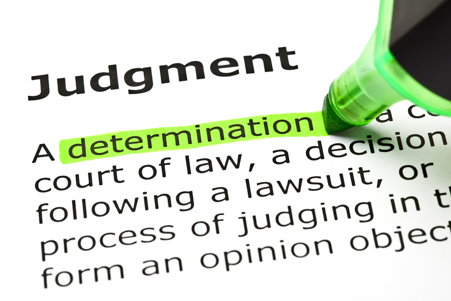 Judgments can be overcome