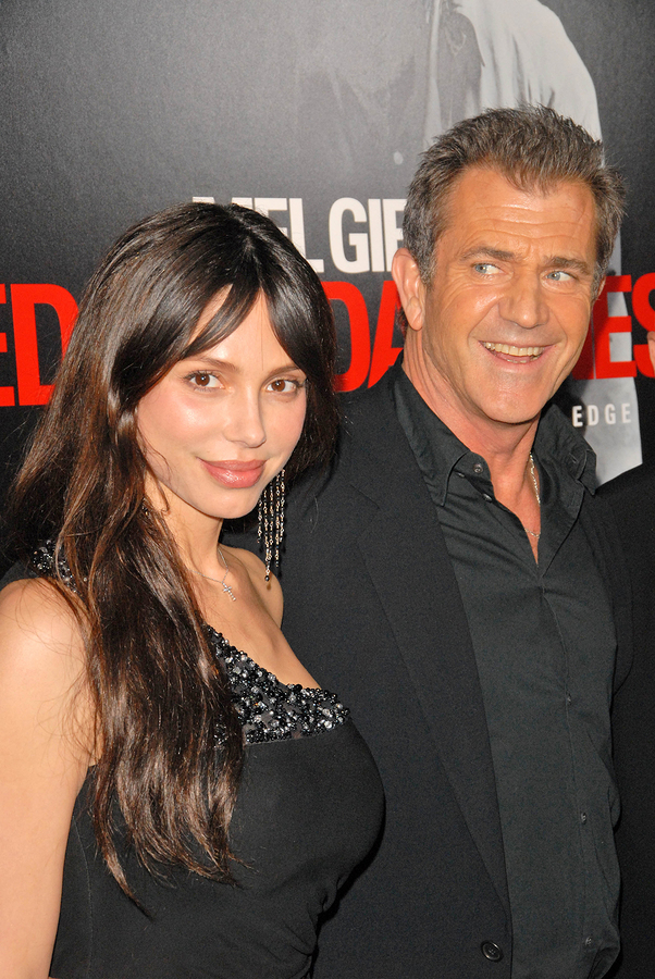Mel Gibson and Oksana Grigorieva in happier times